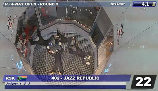 Jazz Republic competing at the 2nd FAI World Cup of Indoor Skydiving last week